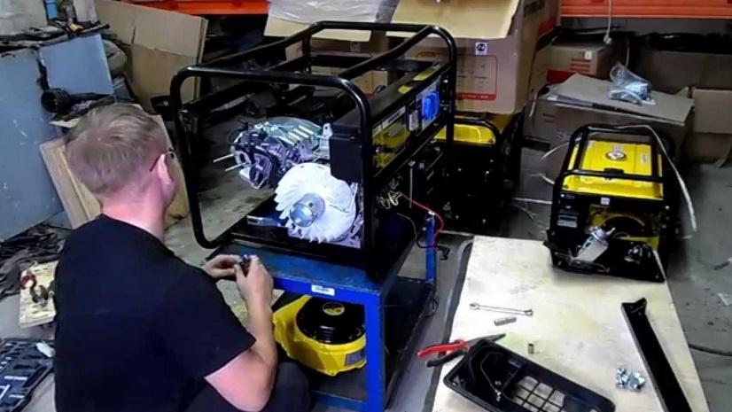 Ремонт бытового генератора своими руками 20
